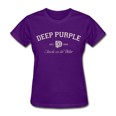 Deep Purple Smoke on the Water Athletic Ladies Tee