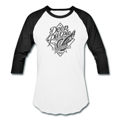Deep Purple Highway Star Heather Gray Raglan