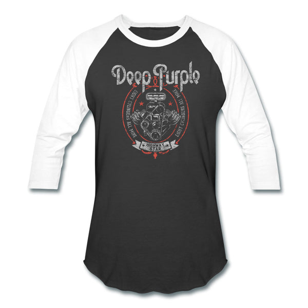 Deep Purple Highway Star Motor Raglan