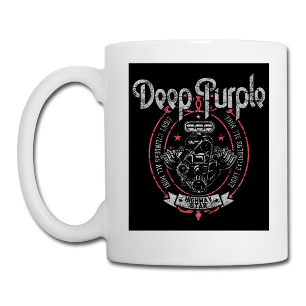 Deep Purple Highway Star Motor White Mug