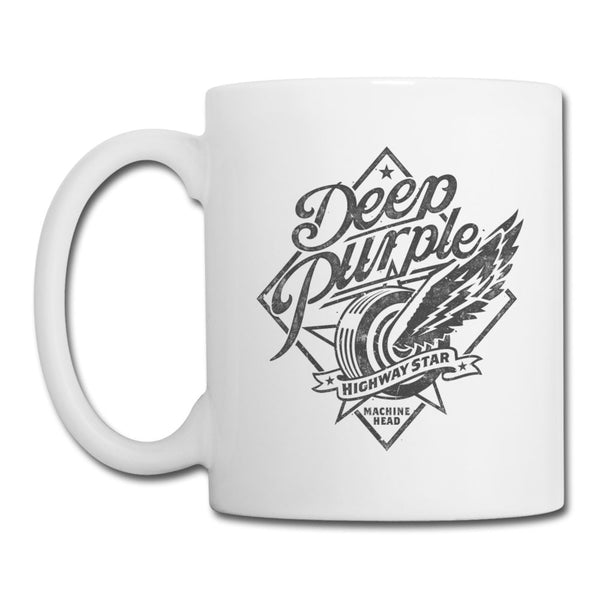 Deep Purple Highway Star White Mug