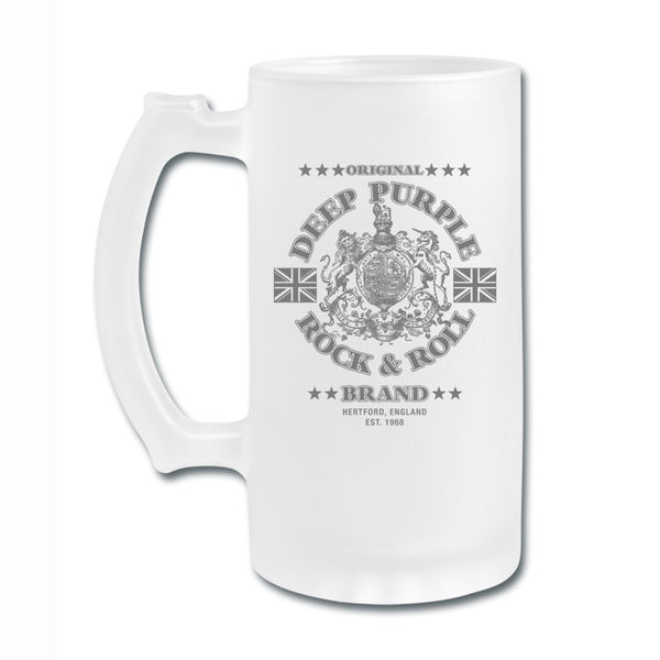 Deep Purple Rock & Roll Brand Frosted Glass Mug