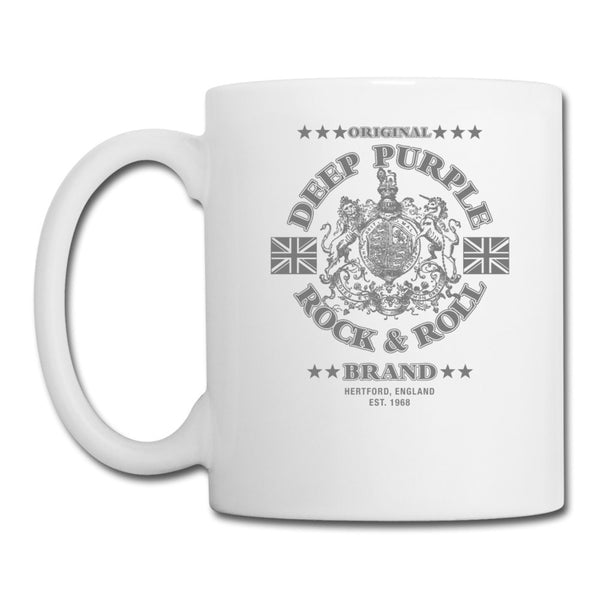 Deep Purple Rock & Roll Brand White Mug