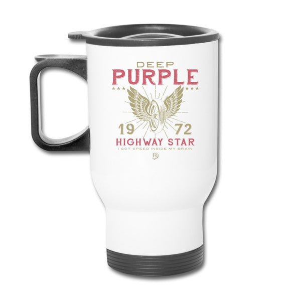 Deep Purple 1972 Highway Star White Mug