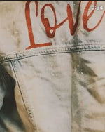Love denim Jacket washed blue