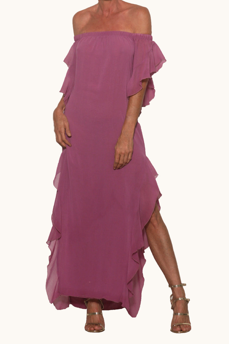 Lucy Long Dress Mulberry - Ramona LaRue