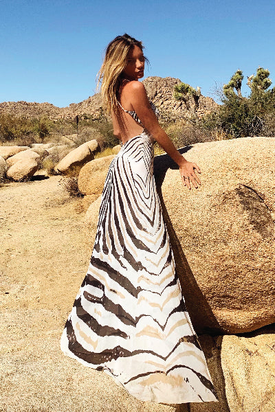 Floyd Dress Zebra - Ramona LaRue
