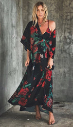 Tara Dress Red Rose