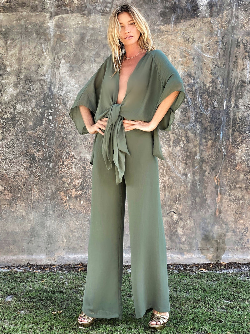 Kate throw moss green