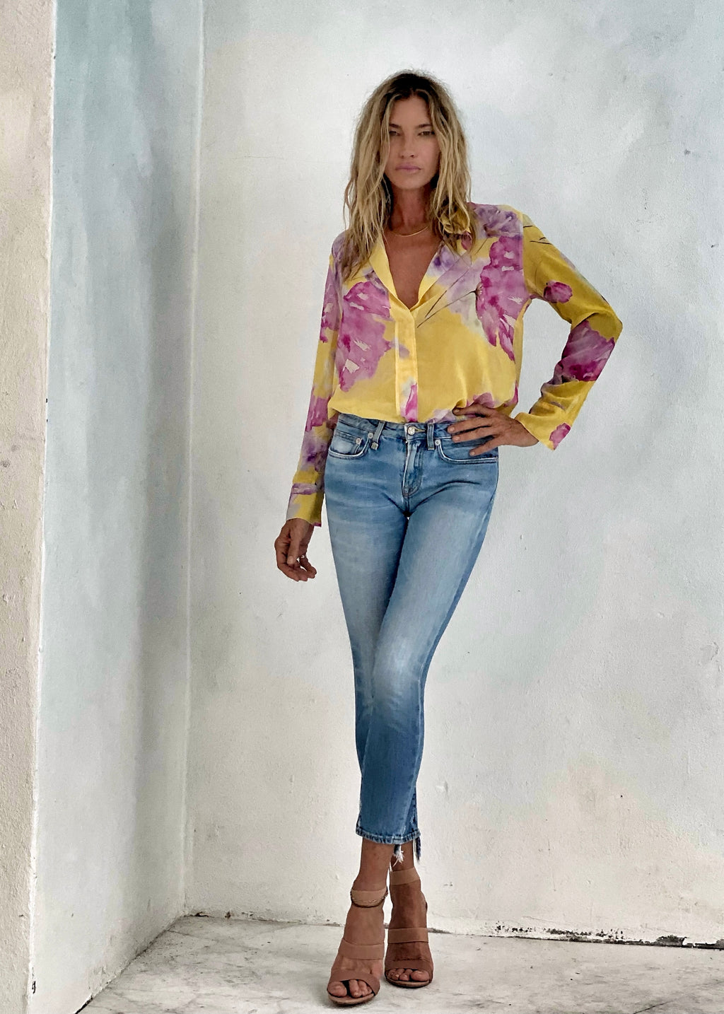 Irene Top Canary Vintage Floral