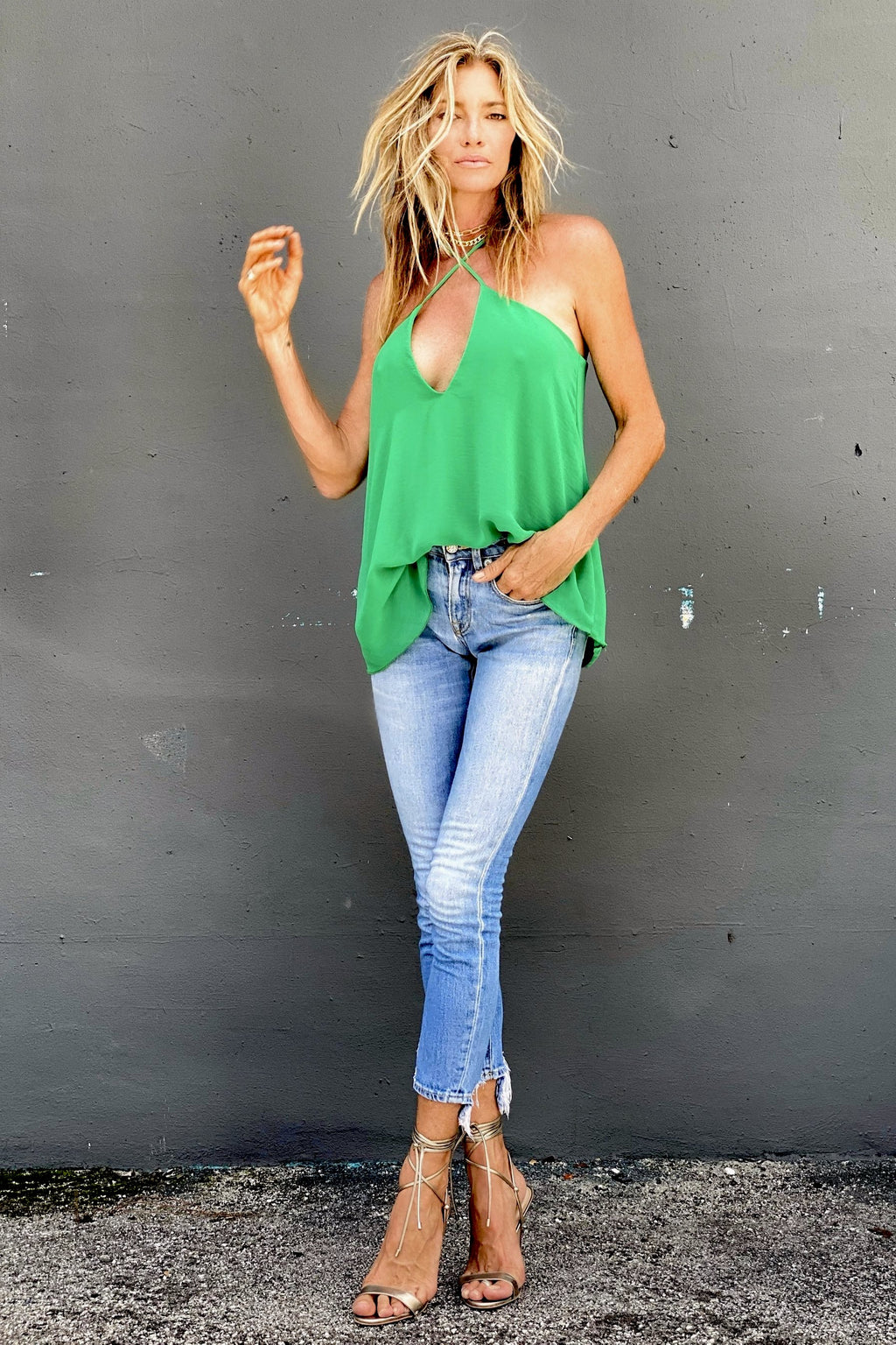 Tara Top Kelly Green - Small / Kelly Green - Medium / Kelly Green - Large / Kelly Green - Voluptuos / Kelly Green
