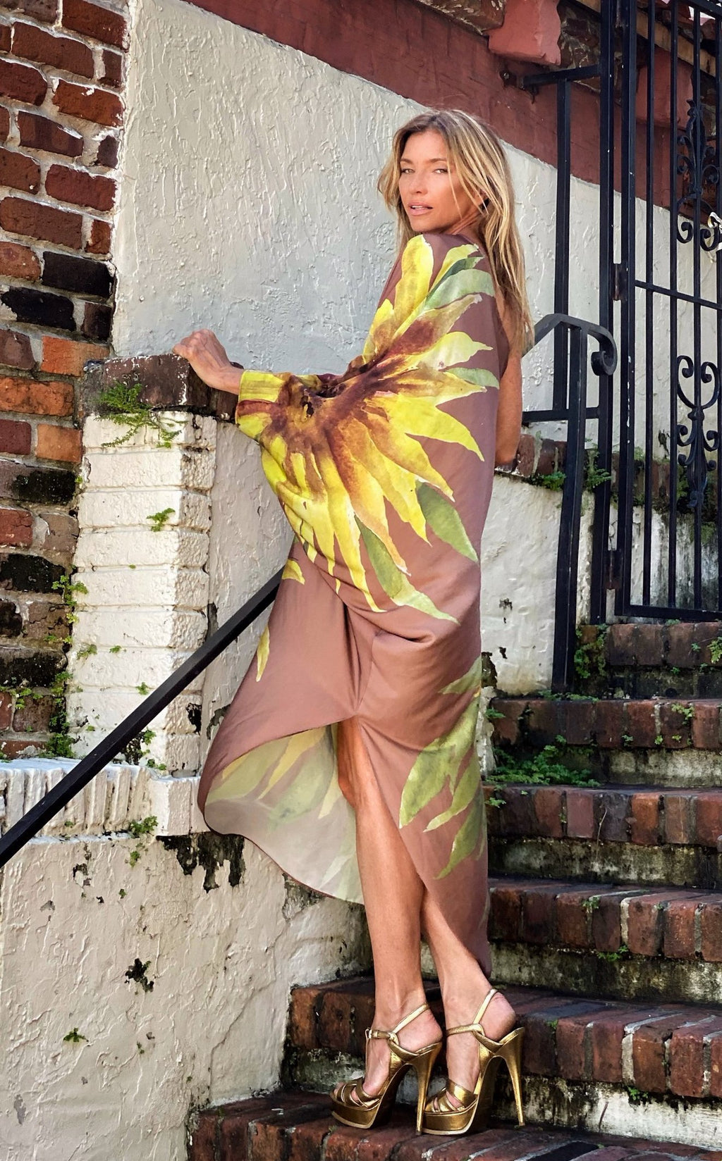 Renee Kaftan Sunflower