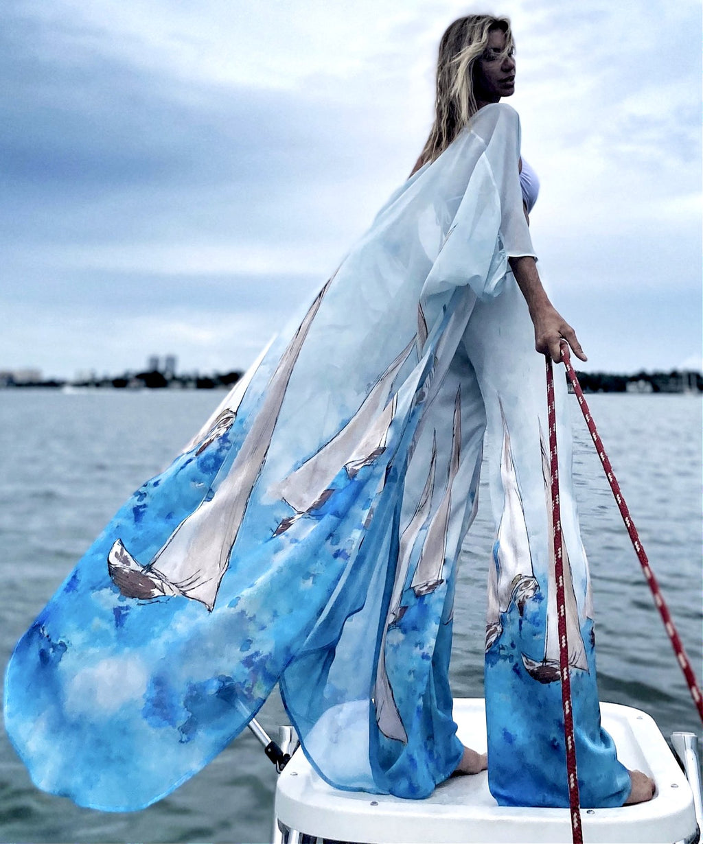 Erte kaftan Sailboat