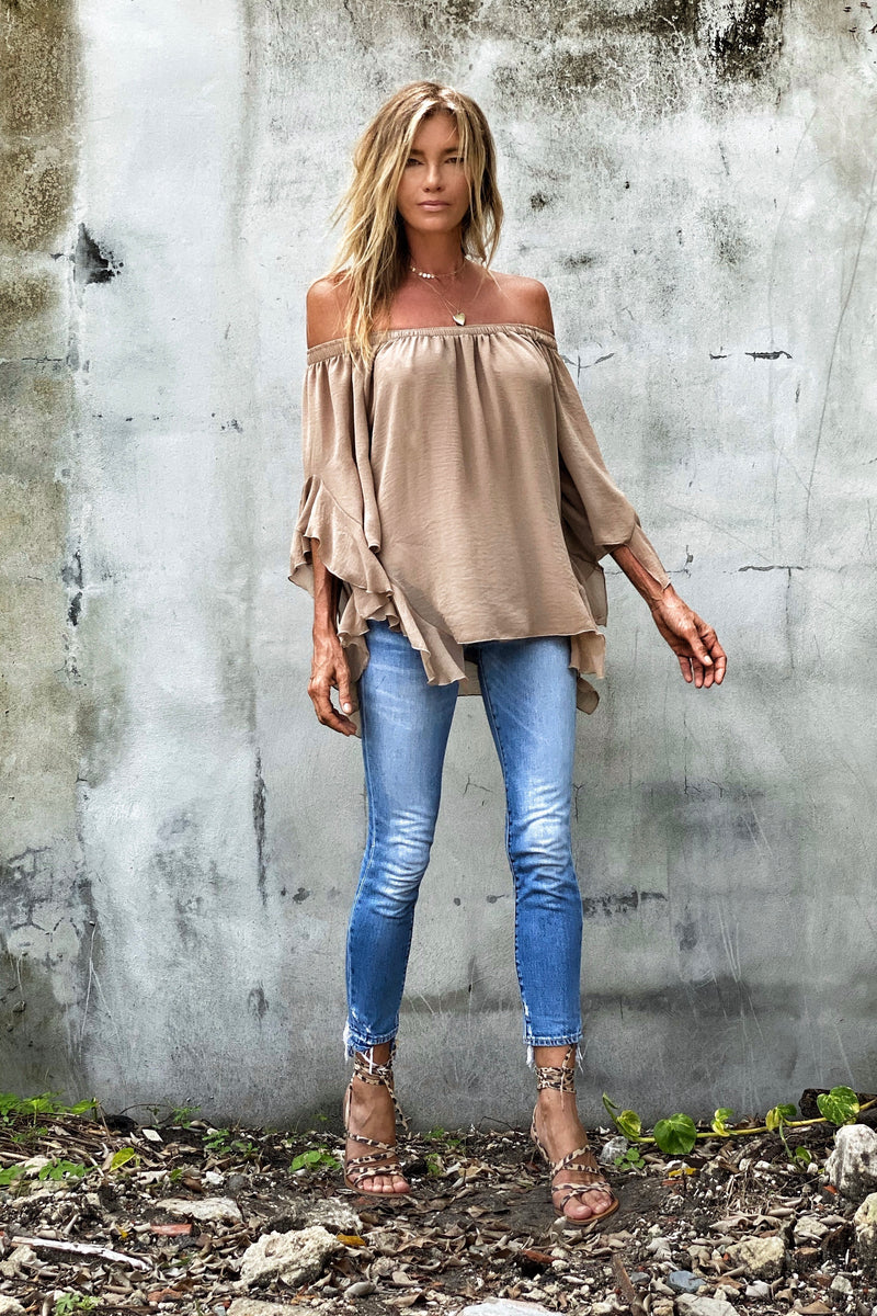Lucy Top Mocca - XS/S / Mocca - M/L / Mocca - V / Mocca