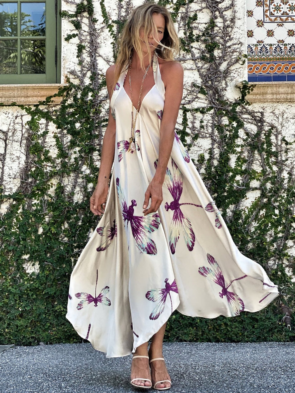 Orchid Thief Dress dragonfly - O/S
