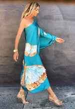 Renee Kaftan Butterfly Teal