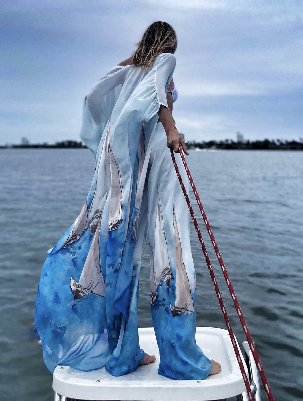 Erte kaftan Sailboat - OS