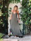 Tara Dress Olive - Ramona LaRue