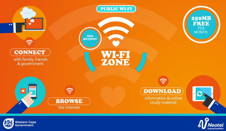 Western Cape Provides Free Capped WIFI Hotspots
