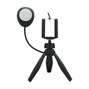 360 Degree Rotate Mini Smartphone Tripod with Selfie Light Ring Lamp