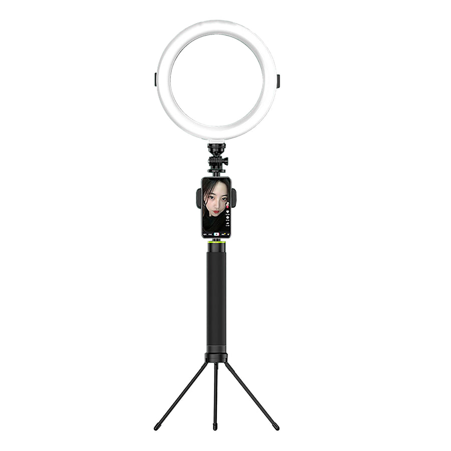 B10 LED Ring Light Tripod Stand Photographic Video Live Broadcast Dimmable Fill Light