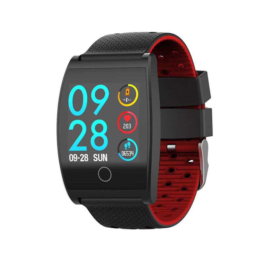 Smart Watch Heart Rate Monitor Tracker Fitness Sports Watch - Red