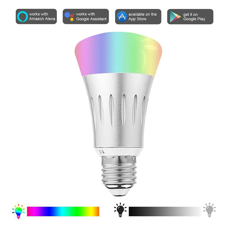 WiFi Smart Light Bulb Multicolor Color Changing Smartphone