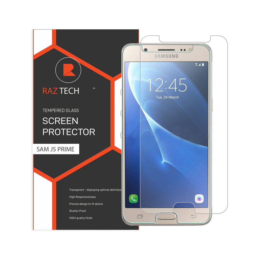 Raz Tech Tempered Glass for Samsung Galaxy J5 Prime G570F (Pack of 2)