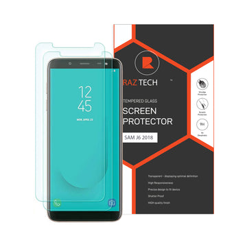 Raz Tech Tempered Glass for Samsung Galaxy J6 J600F  (Pack of 2)