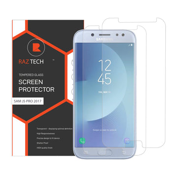 Raz Tech Tempered Glass for Samsung Galaxy J5 Pro (2017) J530F (Pack of 2)