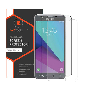 Raz Tech Tempered Glass for Samsung Galaxy J7 PRO/J7 2017 J730F (Pack of 2)