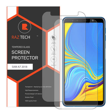 Raz Tech Tempered Glass for Samsung Galaxy A7 2018 SM-A750F  (Pack of 2)