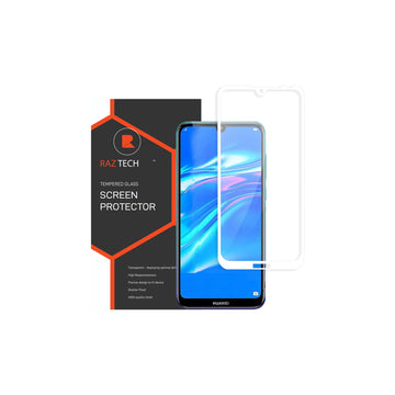 Raz Tech Full Cover Tempered Glass for Huawei Y7/Y7 PRO/Y7 PRIME 2019 - White