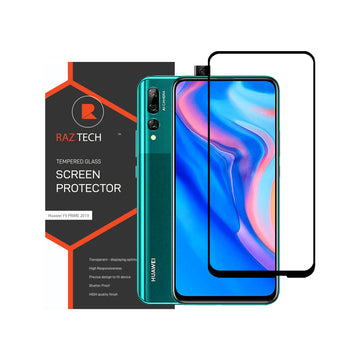 Raz Tech Full Cover Tempered Glass for Huawei Y9 Prime (2019) STK-L21 - Black