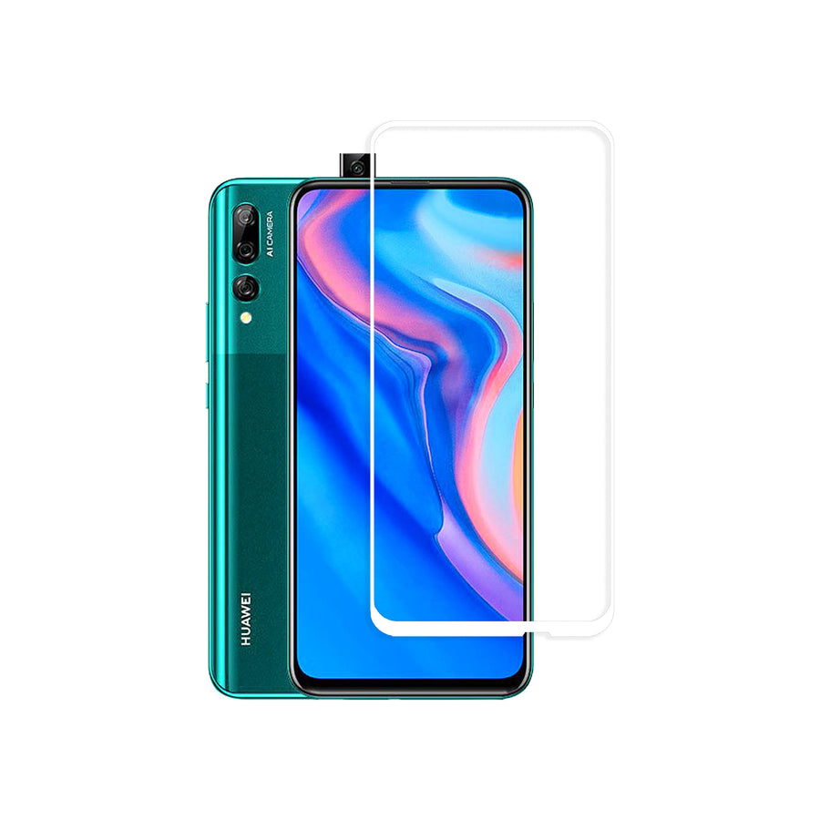 Raz Tech Full Cover Tempered Glass for Huawei Y9 Prime (2019) STK-L21 - White