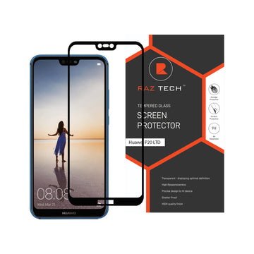 Raz Tech Full Cover Tempered Glass for Huawei P20 LITE/NOVA 3E - Black