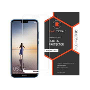 Raz Tech Full Cover Tempered Glass for Huawei P20 LITE/NOVA 3E - White