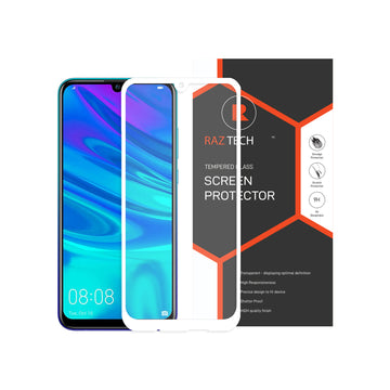 Raz Tech Full Cover Tempered Glass for Huawei P smart (2019) POT-LX1 - White