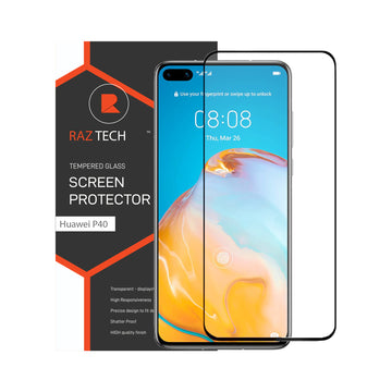 Raz Tech Full Cover Tempered Glass for Huawei P40 Pro ELS-AN00 - Black