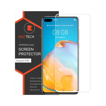 Raz Tech Full Cover Tempered Glass for Huawei P40 Pro ELS-AN00 - White