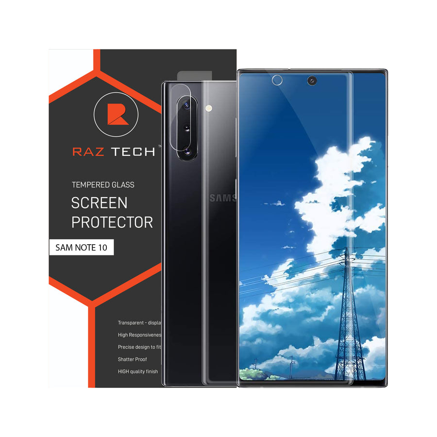 Raz Tech Full Cover Tempered Glass for Samsung Galaxy Note 10 Plus SM-N975F