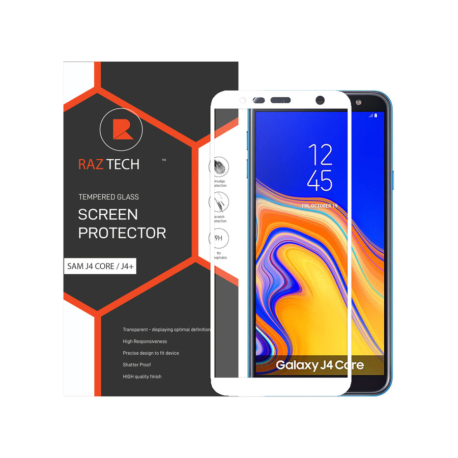 Raz Tech Full Cover Tempered Glass for Samsung Galaxy J4 CORE / J4+ 2018