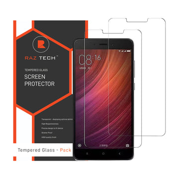 Raz Tech Tempered Glass for Xiaomi Redmi Note 4 (2017) (Pack of 2)