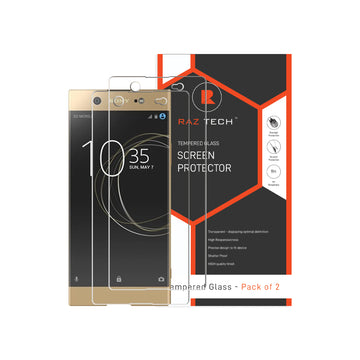 Raz Tech Tempered Glass for Sony Xperia XA Ultra F3212, F3216 (Pack of 2)