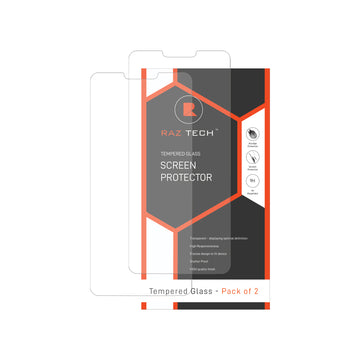 Raz Tech Tempered Glass Screen Protector LG V40 ThinQ (Pack of 2)