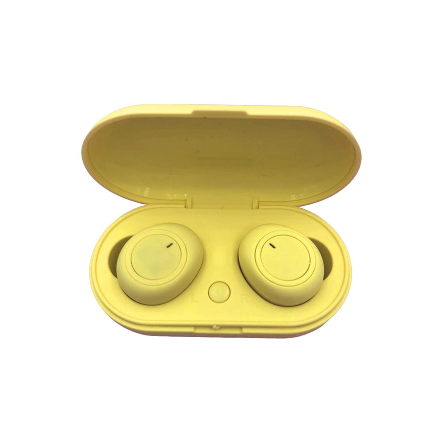 TWS-V1 Bluetooth 5.0 Earphones TWS Wireless Headphones Earbuds - Yellow