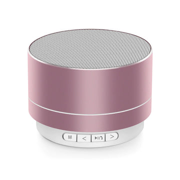 Mini Portable A10 Wireless Bluetooth Speaker Stereo Music Loudspeaker - Rose Gold