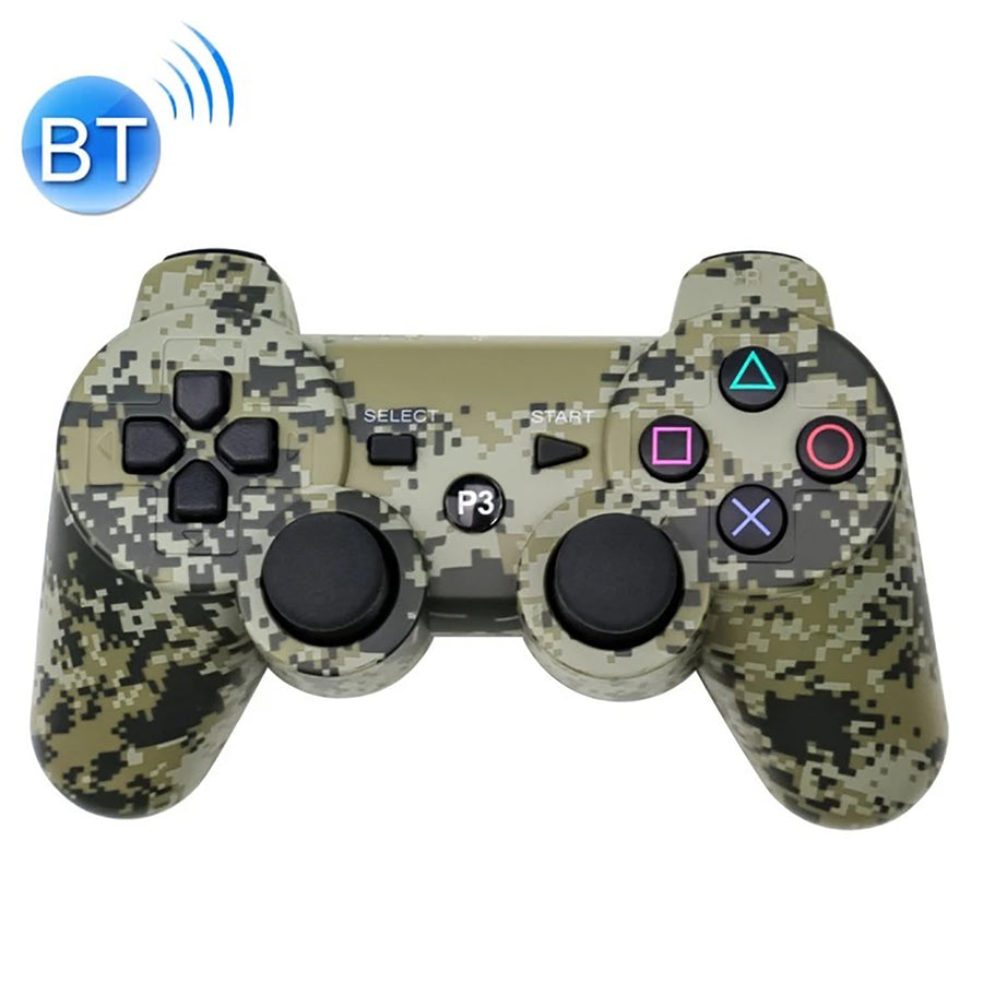 Wireless Double Shock Controller for PS3 - Camouflage Grey