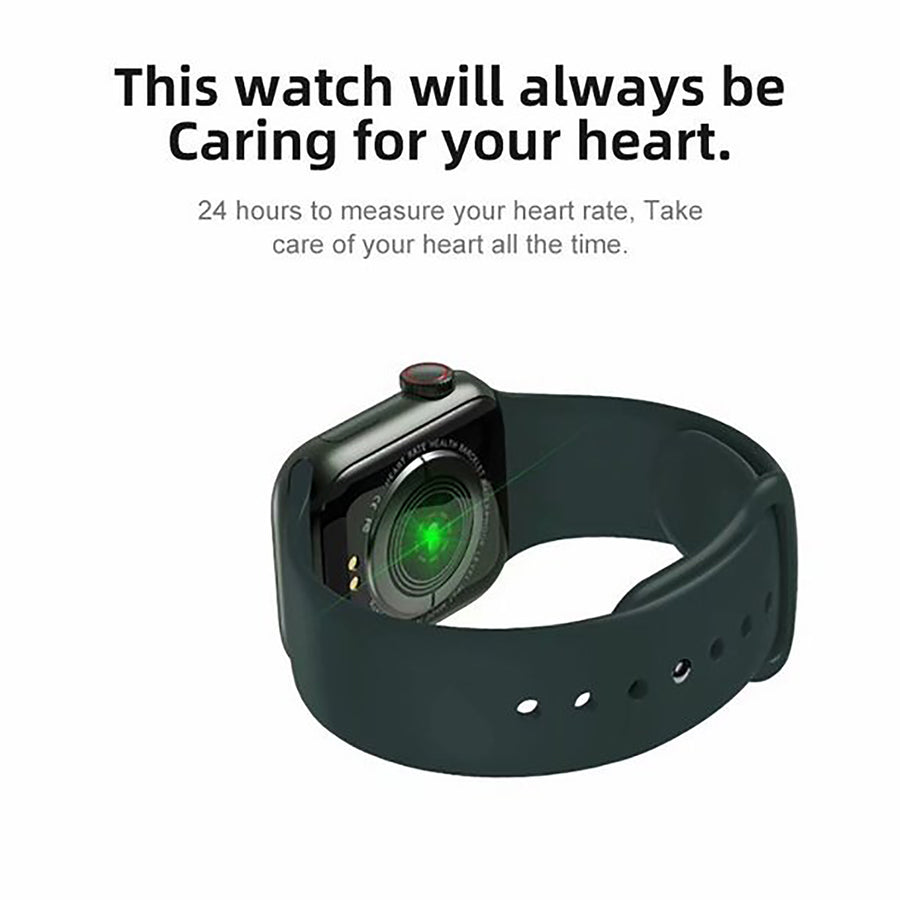 Smart Watch Heart Rate Monitor Tracker Fitness Sports Watch W58 Pro - Dark Green