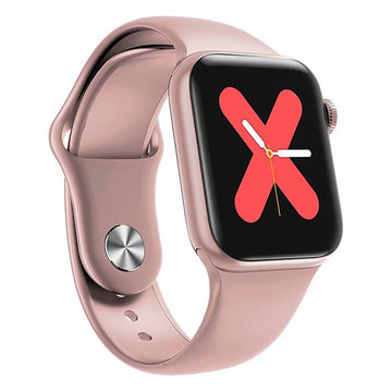 Smart Watch Heart Rate Monitor Tracker Fitness Sports Watch W58 Pro - Pink Gold